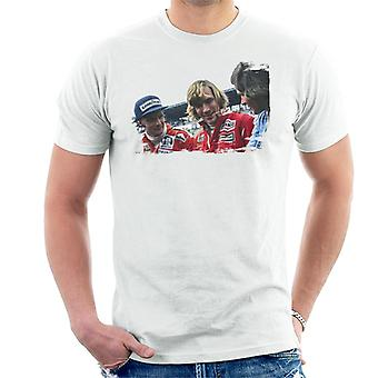 Motorsport Bilder Niki Lauda James Hunt & Barry Sheene Men's T-Shirt