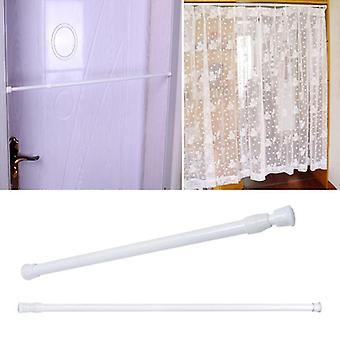 Spring Loaded Adjustable Bathroom Shower Curtain Rod Tension Extendable Telescopic Poles Rail Hanger