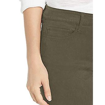 Brand - Daily Ritual Women's Sateen Mid-Rise Skinny Ankle Pant, Olive 8