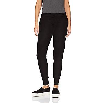Brand - Daily Ritual Women's Terry Cotton and Modal Jogger, Black, Small