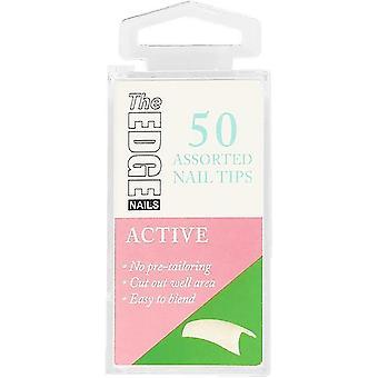 The Edge Nails False Nail Tips - Aktiv (Størrelse 8) (50 stykker)
