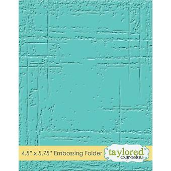 Taylored Expressions Weathered Embossing Folder