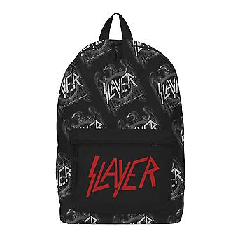 Slayer Backpack Silver Eagle Repeat Band Logo new Official Rocksax Black