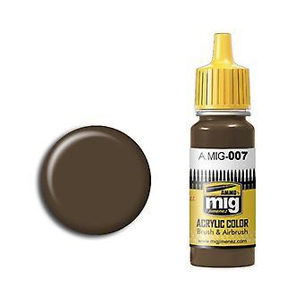 Ammo by Mig Acrylic Paint - A.MIG-0007 RAL 7017 Dunkelbraun (17ml)