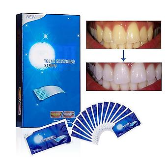 Advanced White Gel -teeth Whitening Strips Stain Removal Oral Hygiene Clean Double Elastic Bleaching