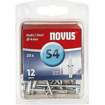 Novus 045-0037 Blind rivet (Ø x L) 4 mm x 12 mm Steel Steel 20 pc(s)