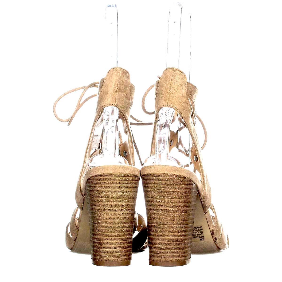 Xoxo Womens Balta Fabric Open Toe Casual Slingback Sandals