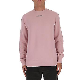 Golden Goose Gmp00470p00020725532 Män's Rosa Bomull Sweatshirt