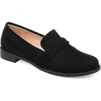 Brinley Co Womens HOLLIE-BLU-075 Suede Closed Toe Loafers