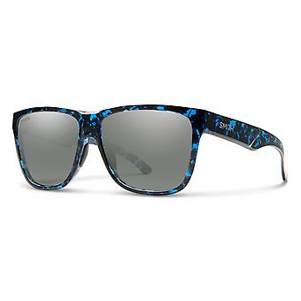 Zonnebril Unisex Lowdown XL 2 gepolariseerd blauw/platina