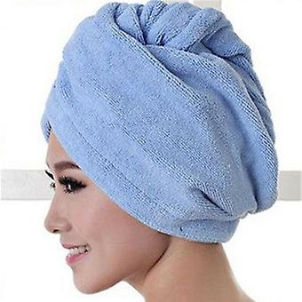Women Microfiber Bath Towel Hair- Quick Drying Towel Shower Cap Hat Turban Head Wrap Bathing Tools For Lady