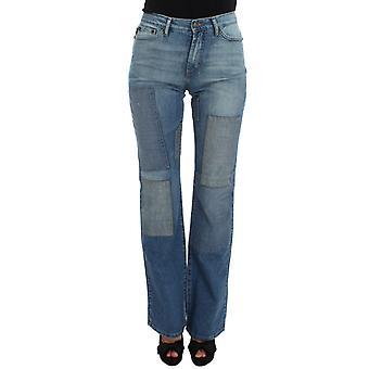 Cavalli Blue Wash Cotton Slim Fit Bootcut Jeans SIG32410-3