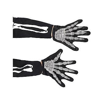 Childrens Skeleton Gloves Halloween Fancy Dress Accessory