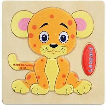 Wooden 3d Puzzle Cartoon Animal Intelligence Baby
