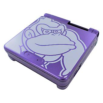 Housing shell for game boy advance sp nintendo donkey kong edition - purple | zedlabz