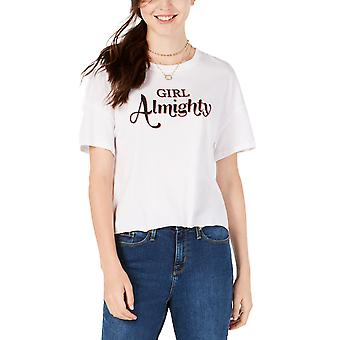 Carbon Copy | Girl Almighty Graphic Print Short Sleeve Top