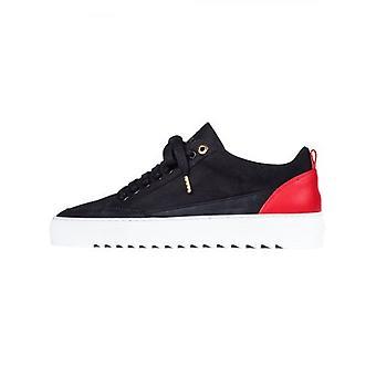 Mason Garments Black Tia Nubuck Red Heel Sneaker