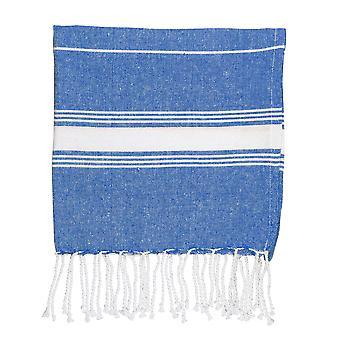 Nicola Spring Children's Turkse katoenen handdoek | Strandbad zwemmen | Hammam Peshtemal Fouta Style - Marine