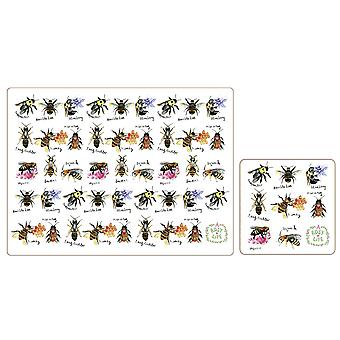iStyle Beautiful Bees Placemats and Coasters