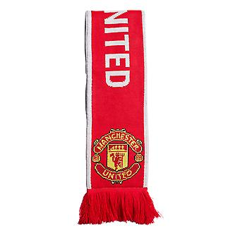 adidas Manchester United FC Football Soccer Supporters Scarf Red