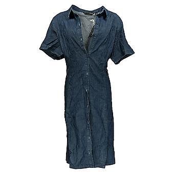 BROOKE SHIELDS Timeless Plus Dress Denim W/ Afneembare Riemblauw A352811