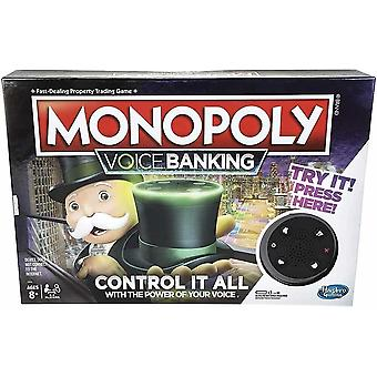 Monopoly voice banking electronic family board game for ages 8 years and