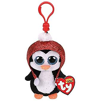 TY Key Clip - Gale the Penguin (Christmas)