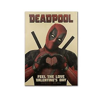 Deadpool-Dekor Vintage Kraft Papier Filmplakat für Home Wanddekoration