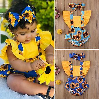 الصيف أزياء حديثي الولادة الأطفال ملابس الطفل ملابس يوميا بوديز فلاور رومبر