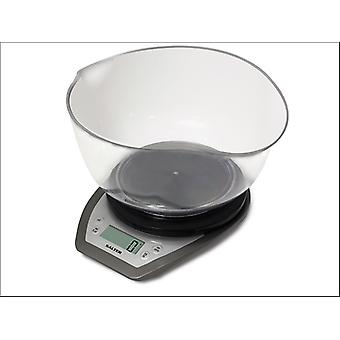 Salter Electric Kitchen Scales + Bowl Silver 1024SVDR14