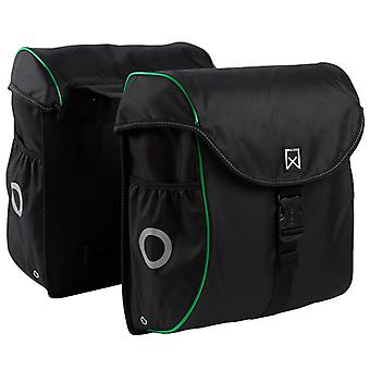 Willex Bicycle Bag 38 L Black and Green 16104