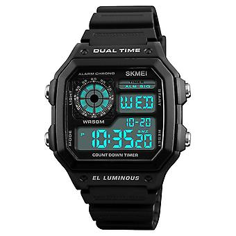 SKMEI 1299 Countdown Alarm Stainless Steel Waterproof Digital Watch