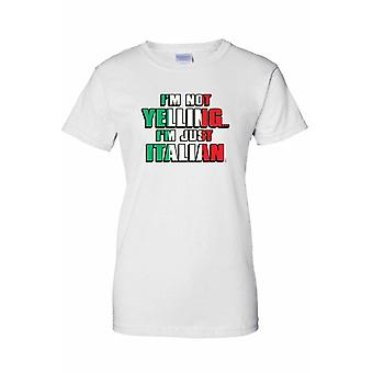 I'm Not Screaming I'm Italian Printed T-shirt