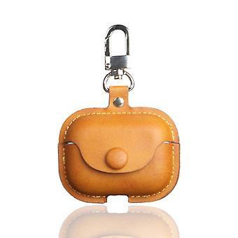 Case Protective Ledertasche mit Schnalle für Apple AirPods Pro Orange #1