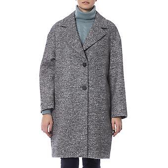 Peserico Oversized Yhden rinnakkaisryhmitelmällä vuorattu takki