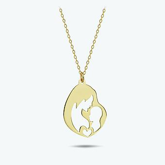 Mother & Child Gold Necklace