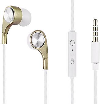 Soundz InEar Headphone with Microphone and Volume Control NoiseIsolating Earphone - Gold