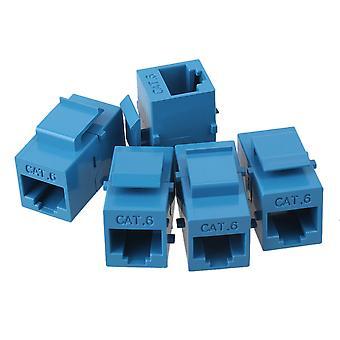 5pcs weiblich zu weiblich RJ45 UTP Keystone Wandbuchse Coupler Adapter Cat6 Blau