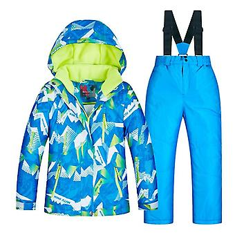 Winter Waterproof Super Warm Colorful Snow Ski Jacket And Pants