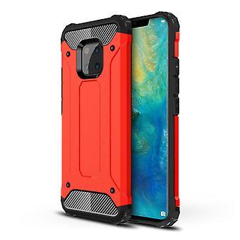 Stuff Certified® Huawei Mate 20 Lite Armor Case - Silicone TPU Case Cover Cas Red