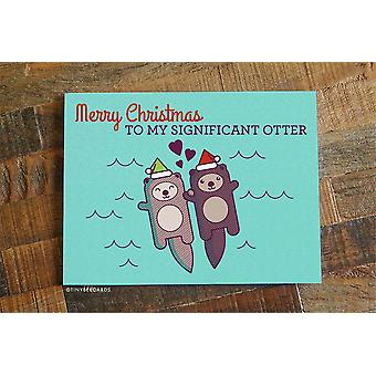 Merry Christmas To My Significant Otter-card