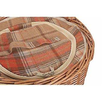 Autumn Red Round Chiller Wicker Basket