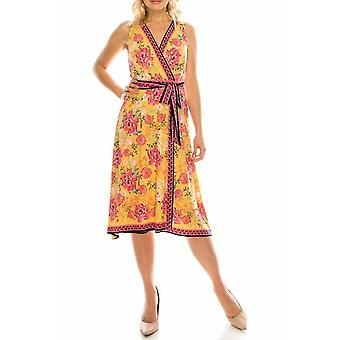 Floral Printed Faux Wrap Dress