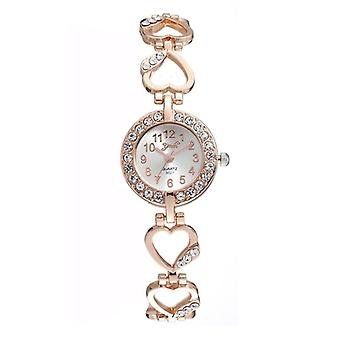 Luxury Bracelet Watch, Women Watches, Rose Gold, Diamond Ladies Clock