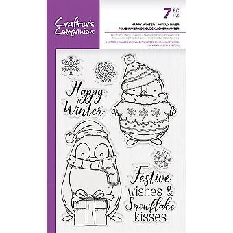 Crafter's Begleiter glücklich Winter klare Briefmarken