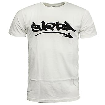 Supra Marker Felt Mens T Shirt Short Sleeved Top Casual White 101863 100 RW94