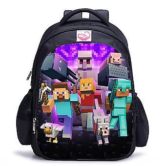 Minecraft waterproof children's backpack