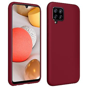 Back Cover For Galaxy A42 5G Semi-rigid Soft Touch Compatible QI Bordeaux