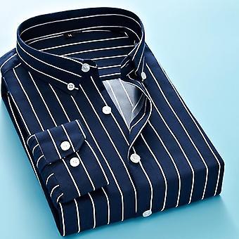 كلاسيك مخطط منقوشة الرجال & apos;ق طويل الأكمام عارضة قميص