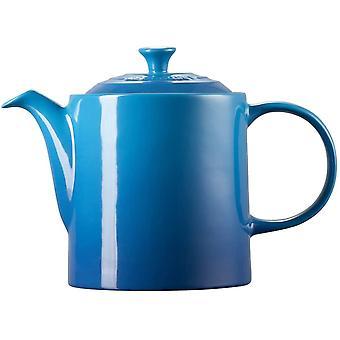 Le Creuset Stoneware Grand Teapot, 1.3 Litres, Serves 4 Cups, Marseille Blue, 70703132000000